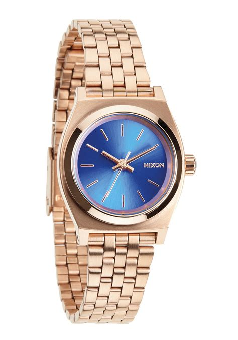 Watch Small Time 2014 Nixon The Small Time Teller Rose Gold Cobalt Damenuhr Nur 99 00