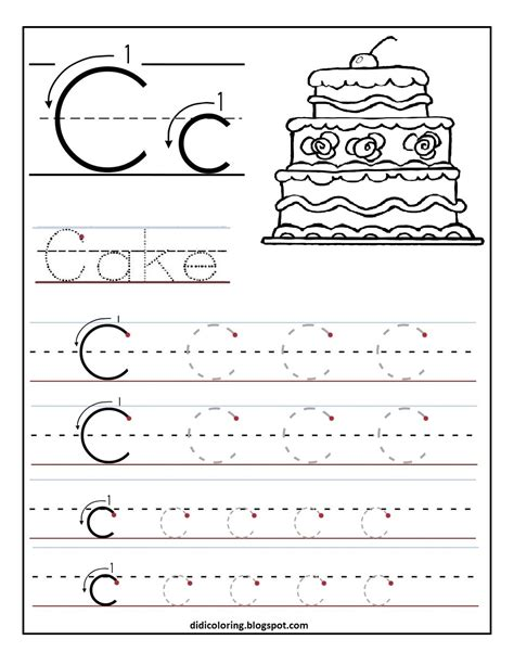 free printable letter worksheets free printable worksheet letter c for your child to learn and write didi coloring page