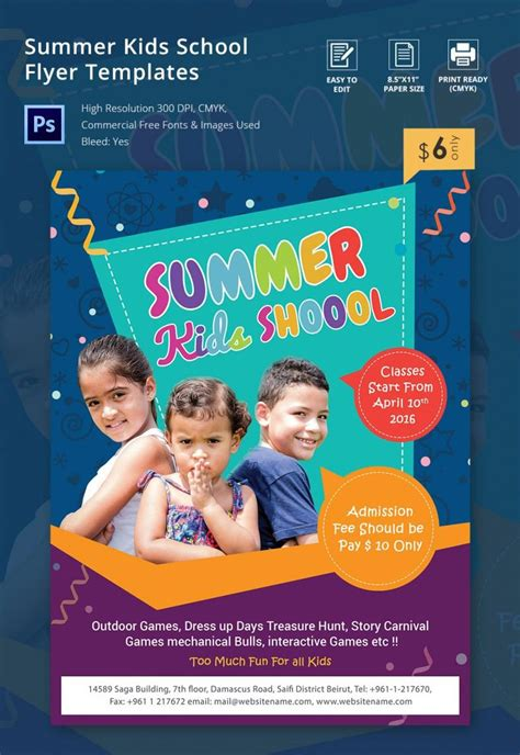 summer party flyer template free creative genie