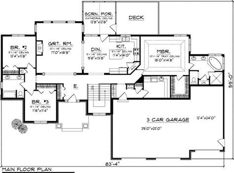 split bedroom split bedroom house plans one floor