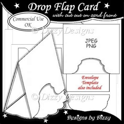 Drop Cards Template by Drop Flap Card Template 163 3 00 Instant Card