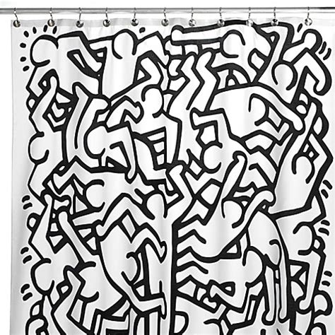 Bed Bath Shower Curtain keith haring 72 inch x 72 inch shower curtain bed bath