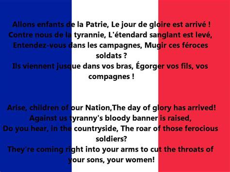 testo marseillaise la marseillaise anthem of lyrics