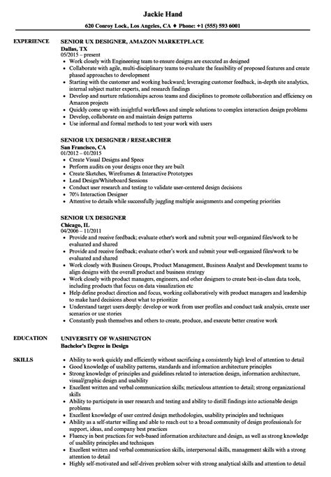 user experience consultant sle resume server cover
