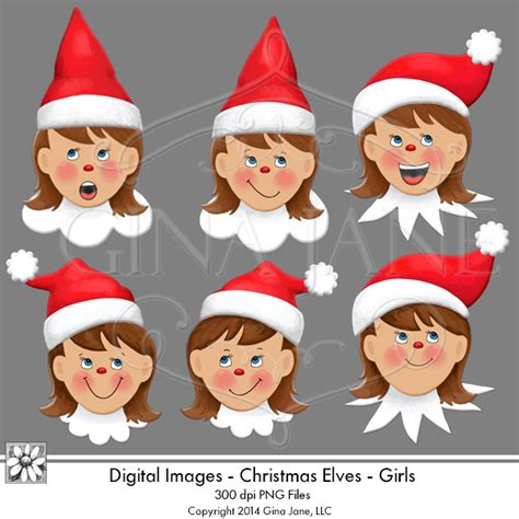 printable elf on the shelf face daisie company digital art svg png illustrations party