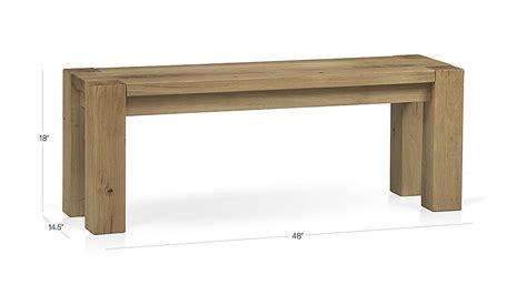 crate and barrel bench seat big sur natural 48 quot bench crate and barrel