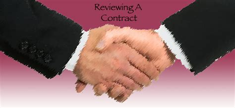 things to consider in getting the contract reviewing a contract