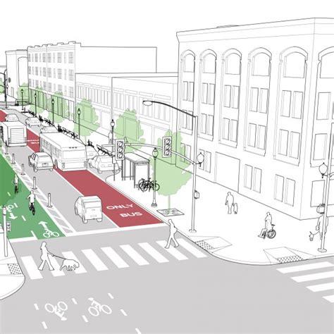 geometric design criteria for urban streets bus stops national association of city transportation