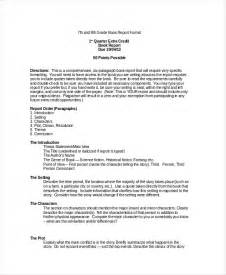 Book Reports For Seventh Graders by Book Report Format 8 Free Word Pdf Documents Free Premium Templates