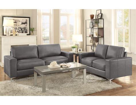 Grey Leather Living Room Furniture Zoso Modern Grey Leather Living Room