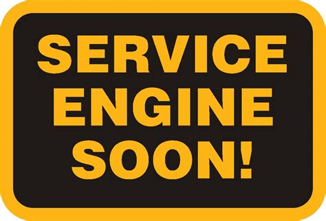 service vehicle soon light check engine light diesel