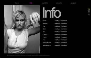 image gallery modeling portfolio templates