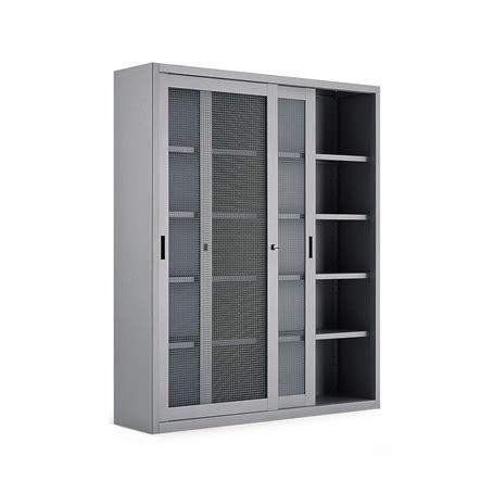 porte rete armadio a porte scorrevoli a rete 4 ripiani cm