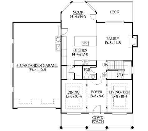Craftsman Floorplans by Juliet Balcony Overlooks Foyer 23099jd 2nd Floor