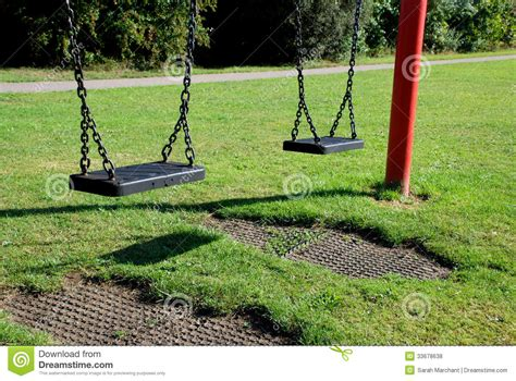 two swings two empty swings royalty free stock photos image 33678638