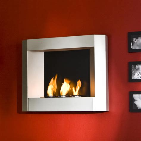 modern wall mounted fireplace view larger