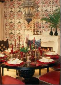 Moroccan Dining Room Moroccan Dining Room Design With Wooden Dining Table Wooden Chairs Candles On