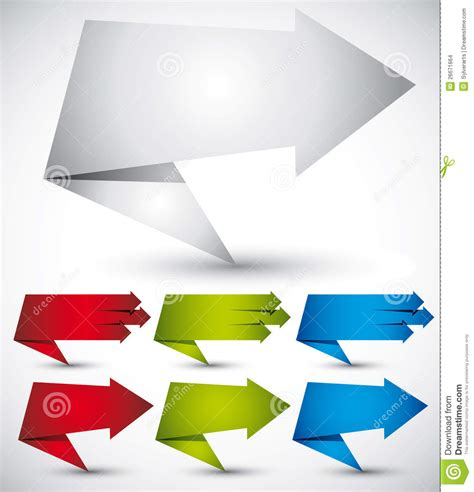 Origami Style - origami style speech banner paper shapes vector