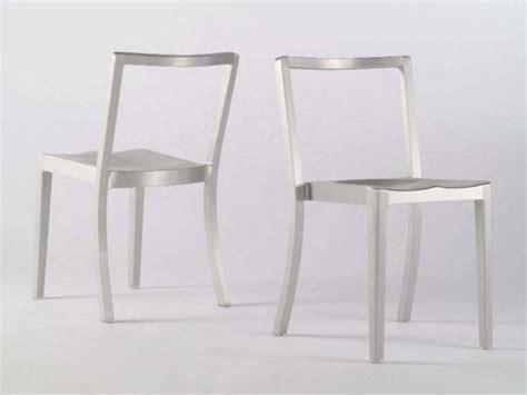 sedie alluminio design sedia impilabile in alluminio collezione icon by emeco
