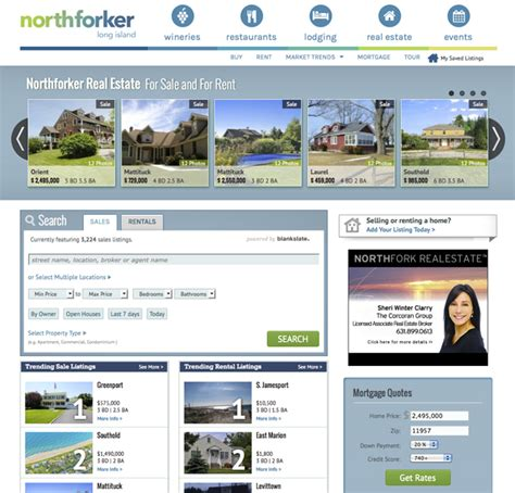 check out our improved real estate listings pages