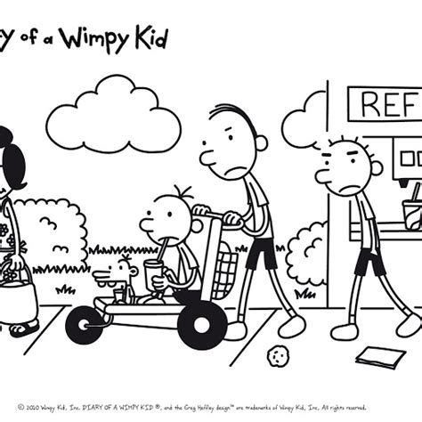 Free Coloring Pages Diary Of A Wimpy Kid Colouring Pages