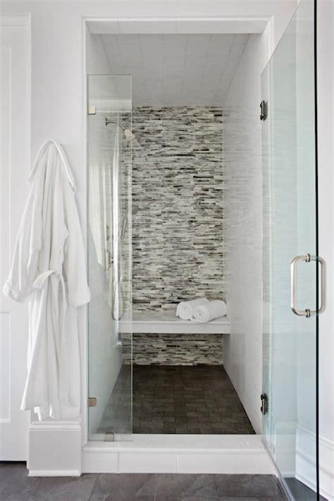 mosaic glass tile shower surround contemporary