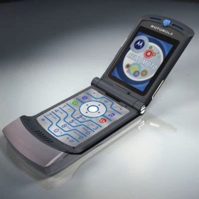 Motorolas Third Product Phone The V3i by Phone Motorola Razr V3i 3d Model