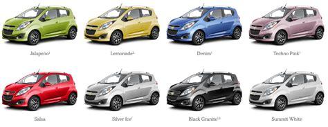spark colores 2013 chevrolet spark maximizes the mini car segment
