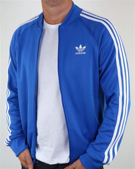 best blue adidas originals superstar track top blue tracksuit jacket