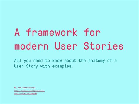 as a user i want user story template a framework for modern user stories all you need to