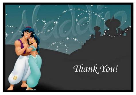 printable princess jasmine thank you cards alladine thank you cards birthday printable