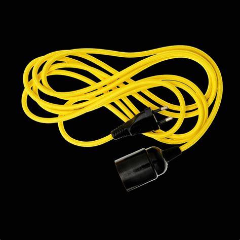wandle mit kabel und stecker danl textilkabel e27 230v eurostecker