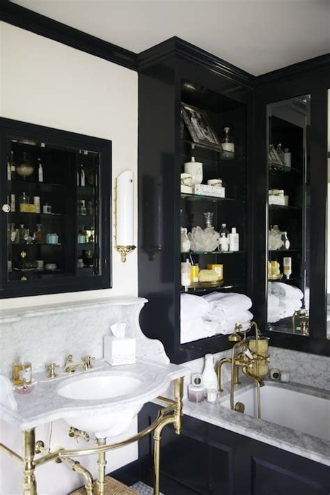 Black and gold bathroom eclectic bathroom matchbook magazine