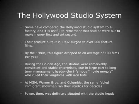 studio system hollywood studio system daps 6 and 7