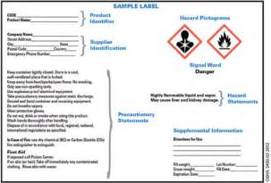 Ghs Sds Template by Image Gallery Sds Labels
