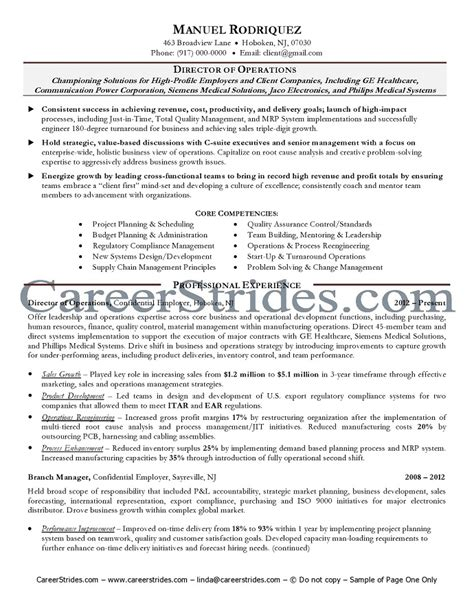Vice President Of Manufacturing Description by Resume Exle Director Of Operations Resume Ixiplay Free Resume Sles