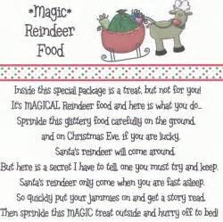 Magic reindeer food poem printable new calendar template site