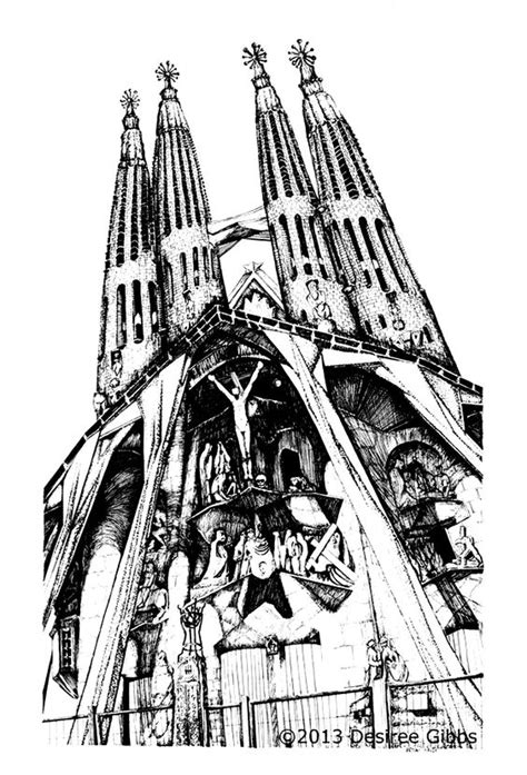 libro gaudi colouring gaudi barcelona free coloring page coloring architecture sagrada familia by gauidi in barcelona drawing of the