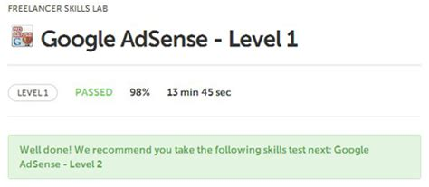 adsense test freelancer tests and answers google adsense level 1 and