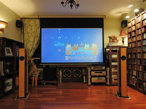 home theater and library with lots of a v equipment
