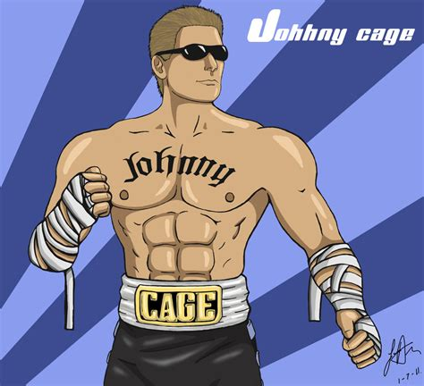 how to cage a how to draw johnny cage