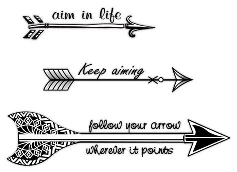 45 arrow tattoo designs
