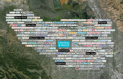 silicon valley usa map silicon valley tech cus by hok 09