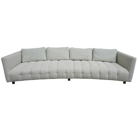 Modern Low Sofa Magnificent Erwin Lambeth Low Curved Four Seat Sofa Mid Century Modern For Sale At 1stdibs