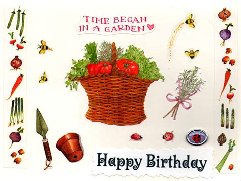 Gardening Themed Birthday Cards