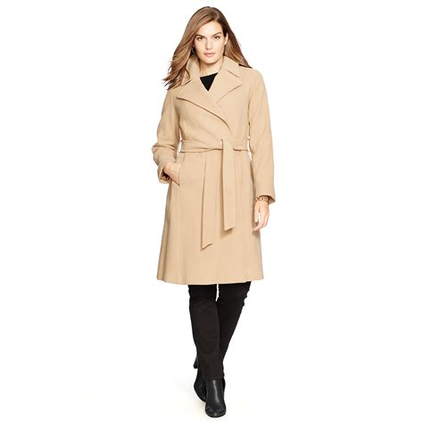 Wool Blend Wrap Coat ralph wool blend wrap coat in lyst