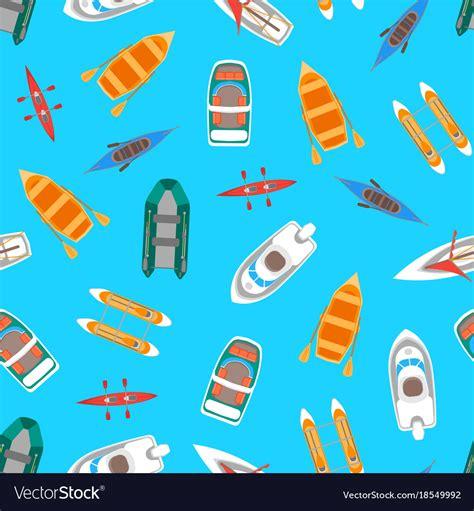 cartoon boat color cartoon color boats top view royalty free vector image