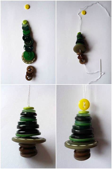 how to make button christmas tree decorations birch and