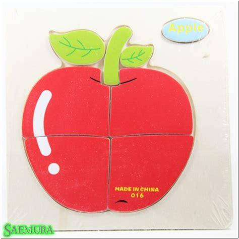 Puzzle Jigsaw Magnet Mainan Edukasi Anak Balita Gambar Taman Pm 028 jual puzzle jigsaw kayu 3d mainan edukasi anak balita apel