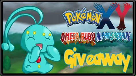 Shiny Pokemon Giveaway Gts - pokemon x y oras gts giveaway shiny manaphy closed youtube